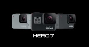GoPro HERO7の新機能とBlack,Silver,Whiteの違い