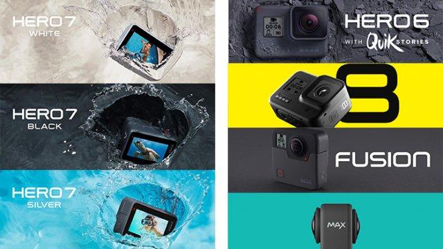 GoProの過去モデルからHERO8,MAXまでを比較!今購入するならどのモデルがおすすめ?